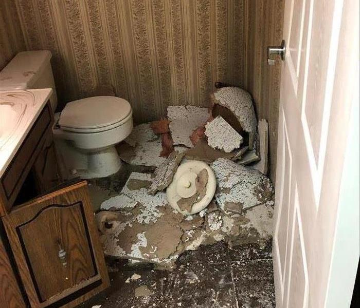 Demo of powder room